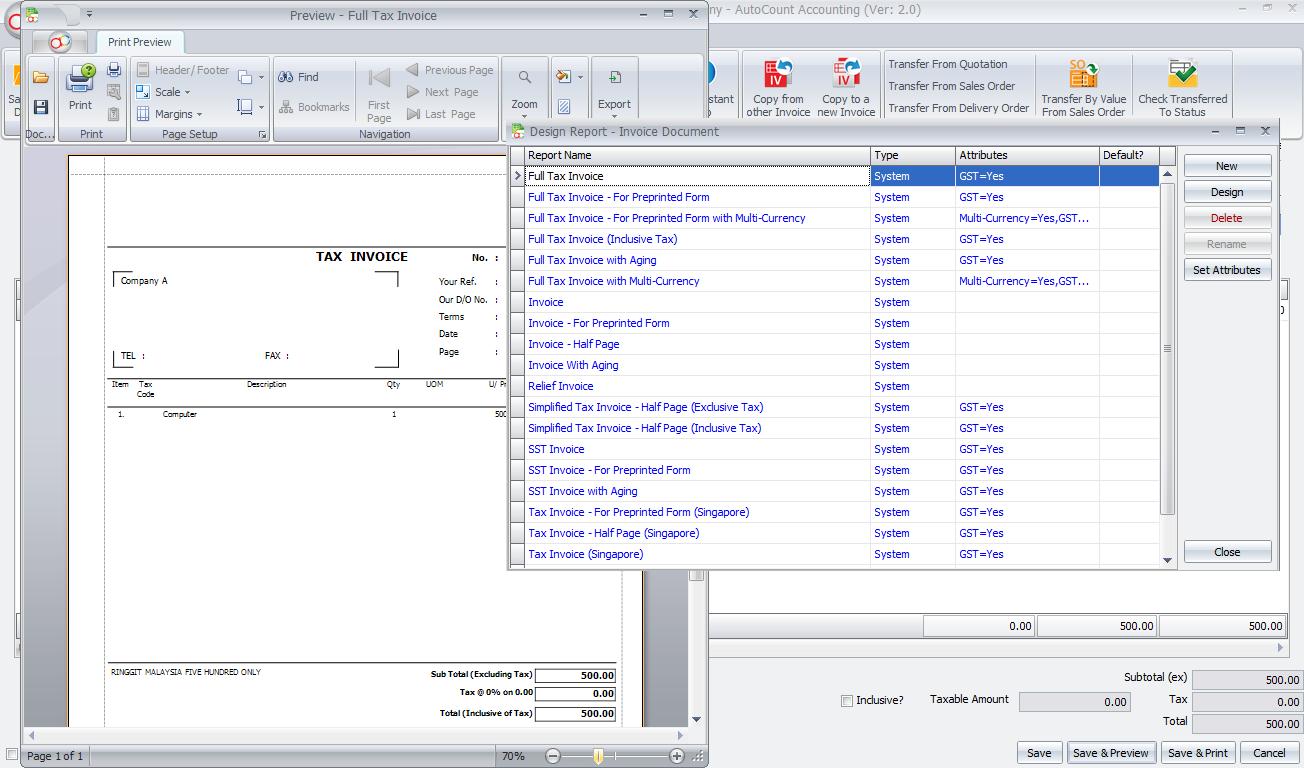 autocount accounting 2.0 highly customizable johor bahru
